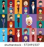 people avatar   with full body... | Shutterstock .eps vector #572491537