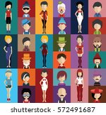 people avatar   with full body... | Shutterstock .eps vector #572491687
