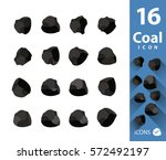 pile of charcoal coal set | Shutterstock .eps vector #572492197