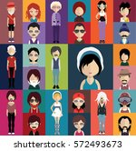 people avatar   with full body... | Shutterstock .eps vector #572493673