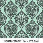 vector damask seamless pattern... | Shutterstock .eps vector #572495563