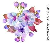 Spring Floral Bouquet.watercolor