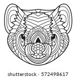 animals of australia. tasmanian ... | Shutterstock .eps vector #572498617