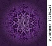 vector mandala card. mandala...   Shutterstock .eps vector #572501263