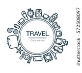 travel and leisure card.... | Shutterstock .eps vector #572508097