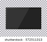 tv  modern blank screen lcd ... | Shutterstock .eps vector #572511313