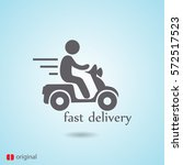 delivery vector  icon | Shutterstock .eps vector #572517523