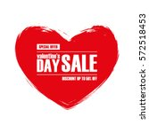 valentine's day sale. special... | Shutterstock .eps vector #572518453