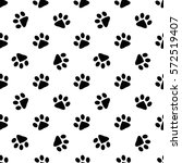 pattern with black animal... | Shutterstock .eps vector #572519407