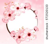 spring background with pink... | Shutterstock .eps vector #572520133