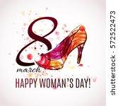 happy women's day   8 march... | Shutterstock .eps vector #572522473
