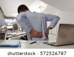 business man with back pain an... | Shutterstock . vector #572526787