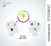 infographic teamwork.  business ... | Shutterstock .eps vector #572528017