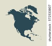 outline map of north america....