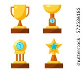 trophy golden awards collection ... | Shutterstock .eps vector #572536183