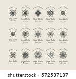 yoga ornamental emblem set....   Shutterstock .eps vector #572537137