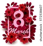 8 march. happy women's day card ... | Shutterstock .eps vector #572538607