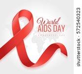 aids awareness ribbon...   Shutterstock .eps vector #572540323