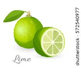 Lime Exotic Fruit Whole And...