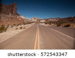 road in the big bend national... | Shutterstock . vector #572543347