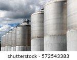 large stainless steel... | Shutterstock . vector #572543383