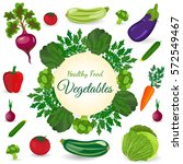healthy vegetables and... | Shutterstock .eps vector #572549467