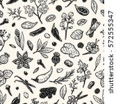 pattern with hand drawn vector... | Shutterstock .eps vector #572555347