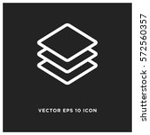 layers vector icon  fold symbol.... | Shutterstock .eps vector #572560357