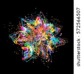 abstract color splash and... | Shutterstock .eps vector #572566507