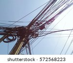 Messy Cable Wire On Electric...