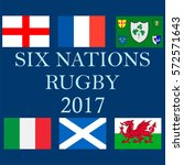 the 2017 six nations... | Shutterstock .eps vector #572571643