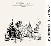 chiang mai  thailand  southeast ...   Shutterstock .eps vector #572578927