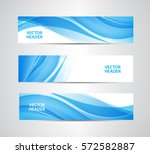 vector set of abstract blue... | Shutterstock .eps vector #572582887