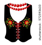 decorative polish folk vest... | Shutterstock .eps vector #572593633