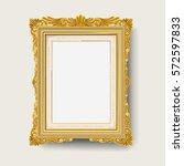vintage gold picture frame | Shutterstock .eps vector #572597833