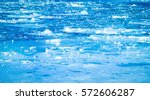 blue frozen river with small... | Shutterstock . vector #572606287
