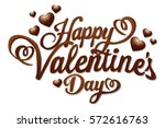 chocolate valentines sign | Shutterstock .eps vector #572616763