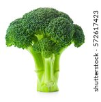 broccoli isolated on white... | Shutterstock . vector #572617423