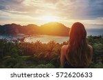 A Girl Admiring Amazing Sunset...