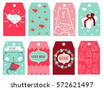valentine's labels | Shutterstock .eps vector #572621497