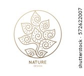 vector logo of floral element.... | Shutterstock .eps vector #572622007