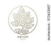 Vector Logo Of Floral Element....