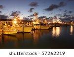 Evening In A Marina In Florida