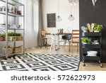 spacious and modern dining room ... | Shutterstock . vector #572622973