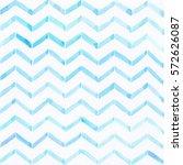 watercolor chevron striped ... | Shutterstock . vector #572626087
