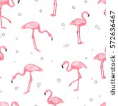 watercolor pink flamingo... | Shutterstock .eps vector #572636467