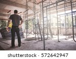 architect  engineer  project... | Shutterstock . vector #572642947