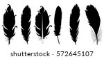 vector silhouettes set of... | Shutterstock .eps vector #572645107