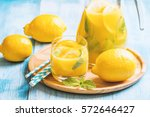 lemonade drink. lemonade in the ... | Shutterstock . vector #572646427