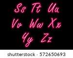 neon alphabet font part 3   Shutterstock .eps vector #572650693